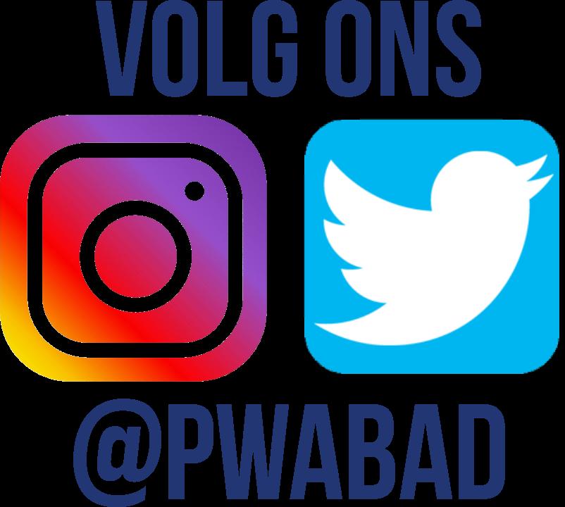 Stichting PWA Bad is ook te volgen op de sociale media. Volg ons via@pwabad